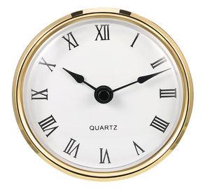 Free Shipping 80mm Diameter Clock Fit Ups Inserts Quartz Clock Insert gold color fit 76mm hole