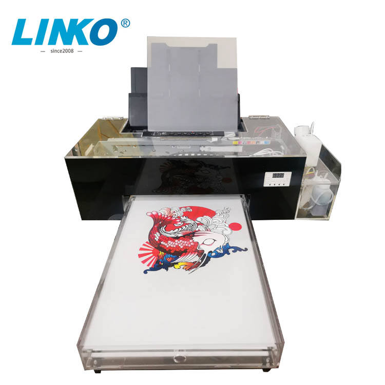Gemodificeerde L1800 Printer 1 Wit 4 Kleuren Inkt A3 Huisdier Film Printer T-shirt Drukmachines Offset Dtf Inkt Printers