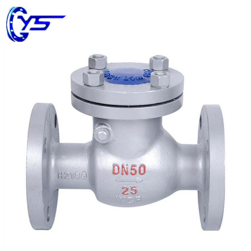 WCB Body Stainless Steel Disc Swing Type Flange Check Valve With Bolt Bonnet