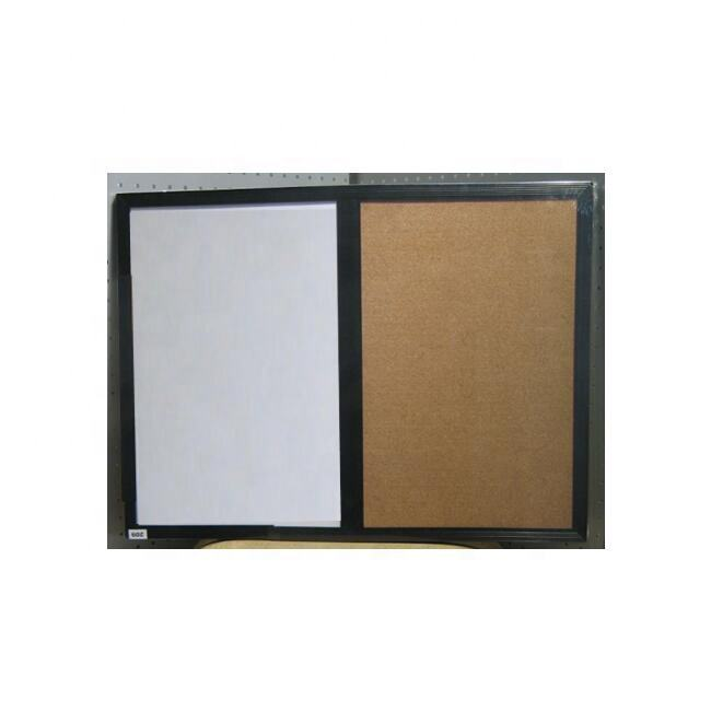 Plastic framed cork bulletin and white board pin board, combo board