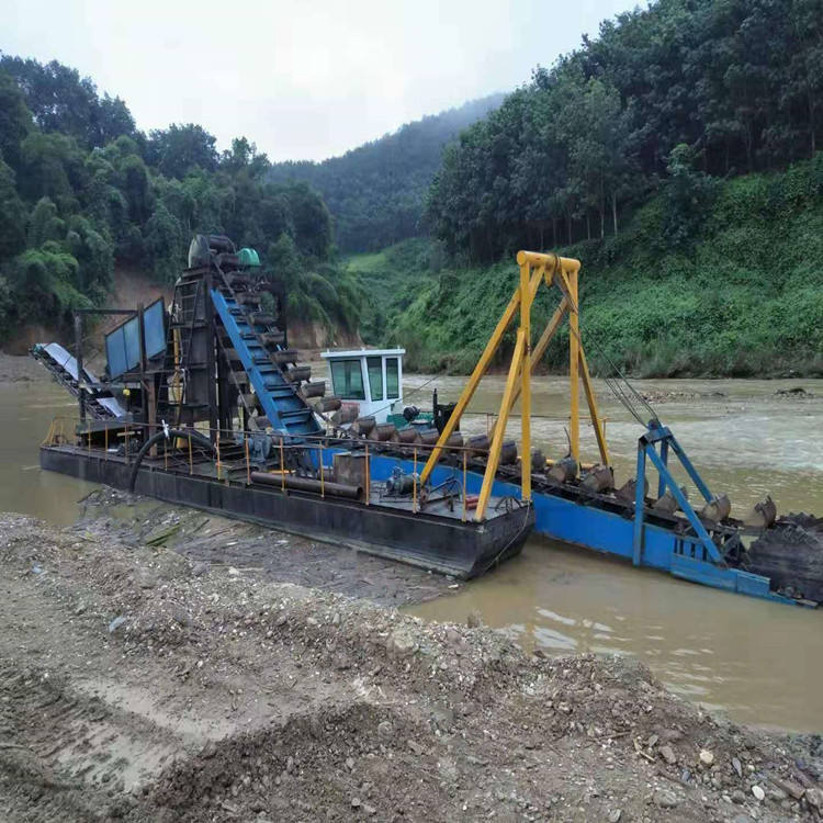 Gold Panning China Bucket Chain Dredger Gold Mining Ship Diamond Gold Dredge Machine
