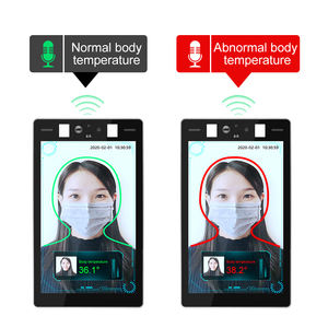 face recognition ir camera thermal camera walk through body temperature scanner measurement AI face detection panel camera