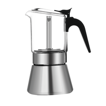 Eco-Friendly Stocked Food Grade Stainless Espresso Moka Pot Coffee Maker