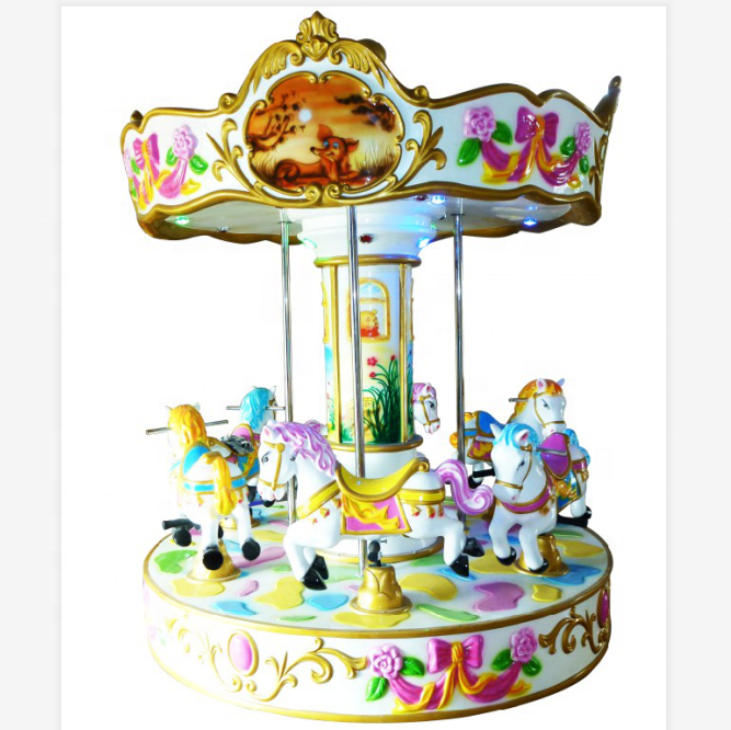 Luxury carousel mini carousel horse amusement park rides for kids