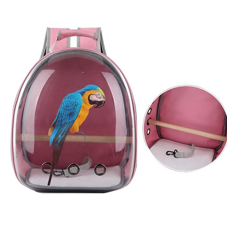 Burlway wholesale new parrot bird cage breathable multipurpose transparent space cat and parrot backpack