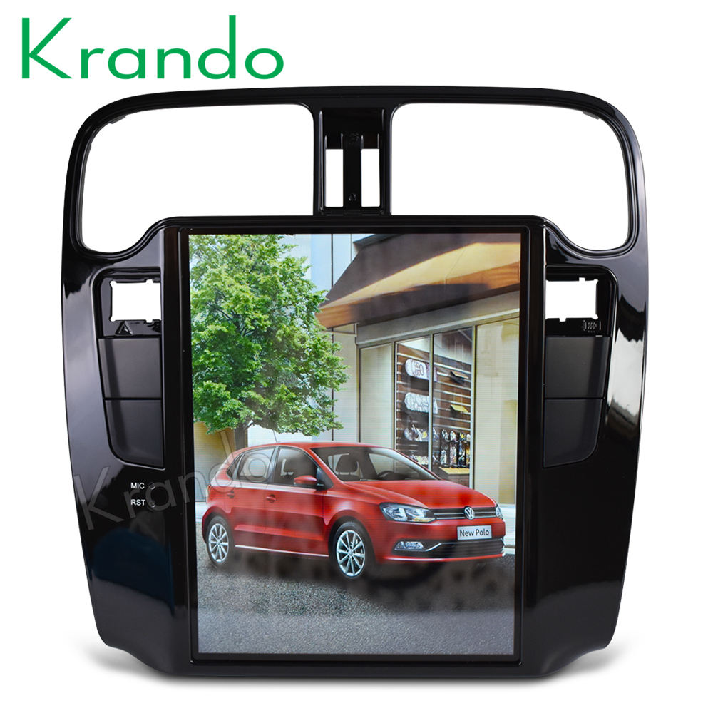 "Krando Android 7.1 10.4"" Tesla Vertical touch screen gps navigation for VW Volkswagen Polo 2011-2016 car radio system KD-VP146"
