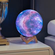 Litwow Dropshipping 3D Printing Galaxy Night Light Rechargeable Touch Dimmable Remote Controller 16colors Galaxy Lamp