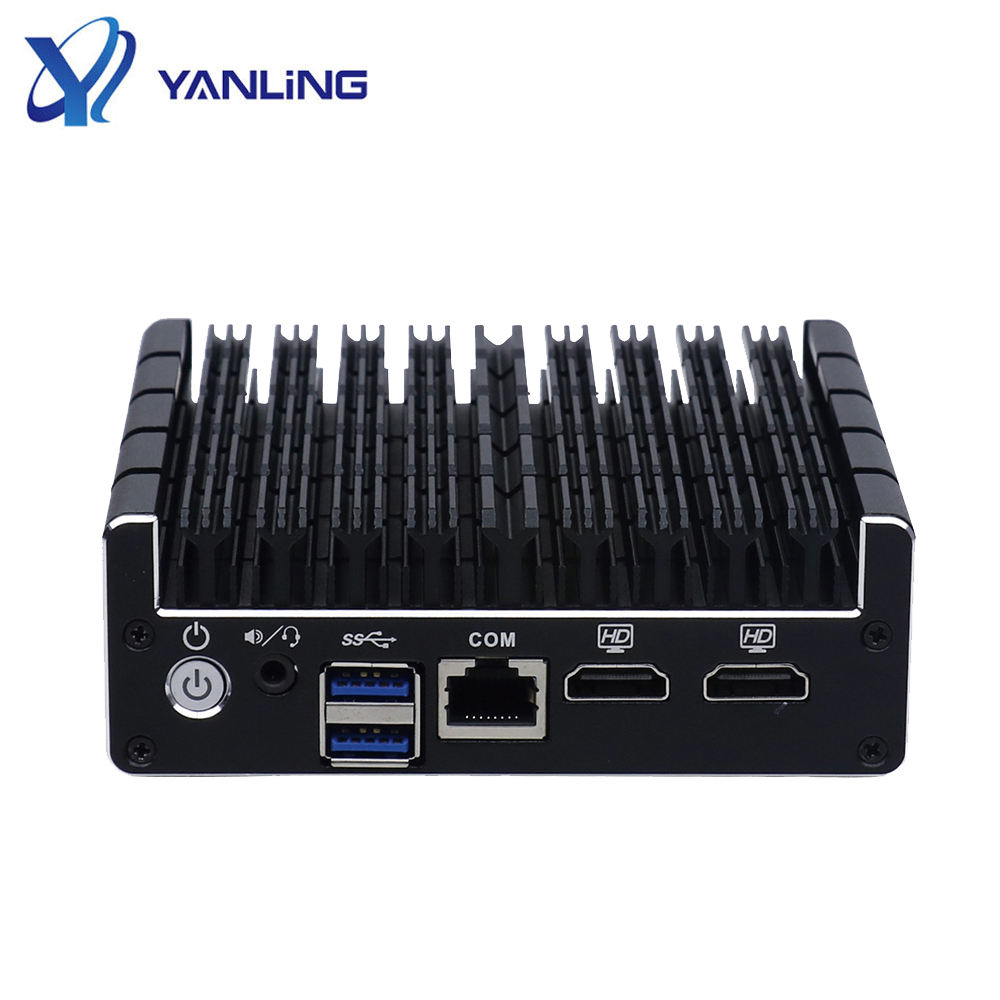 Barebone Pc Pfsense Firewall Barebone Mini Pc With J3160 Support AES NI 4 Ethernet Ports