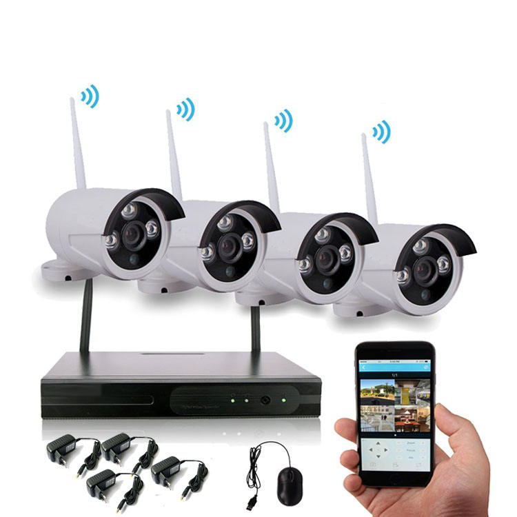 4CH CCTV Camera System 1080P WiFi Nvr Kit Camera Wireless WiFi Ip Camera Nvr Kit
