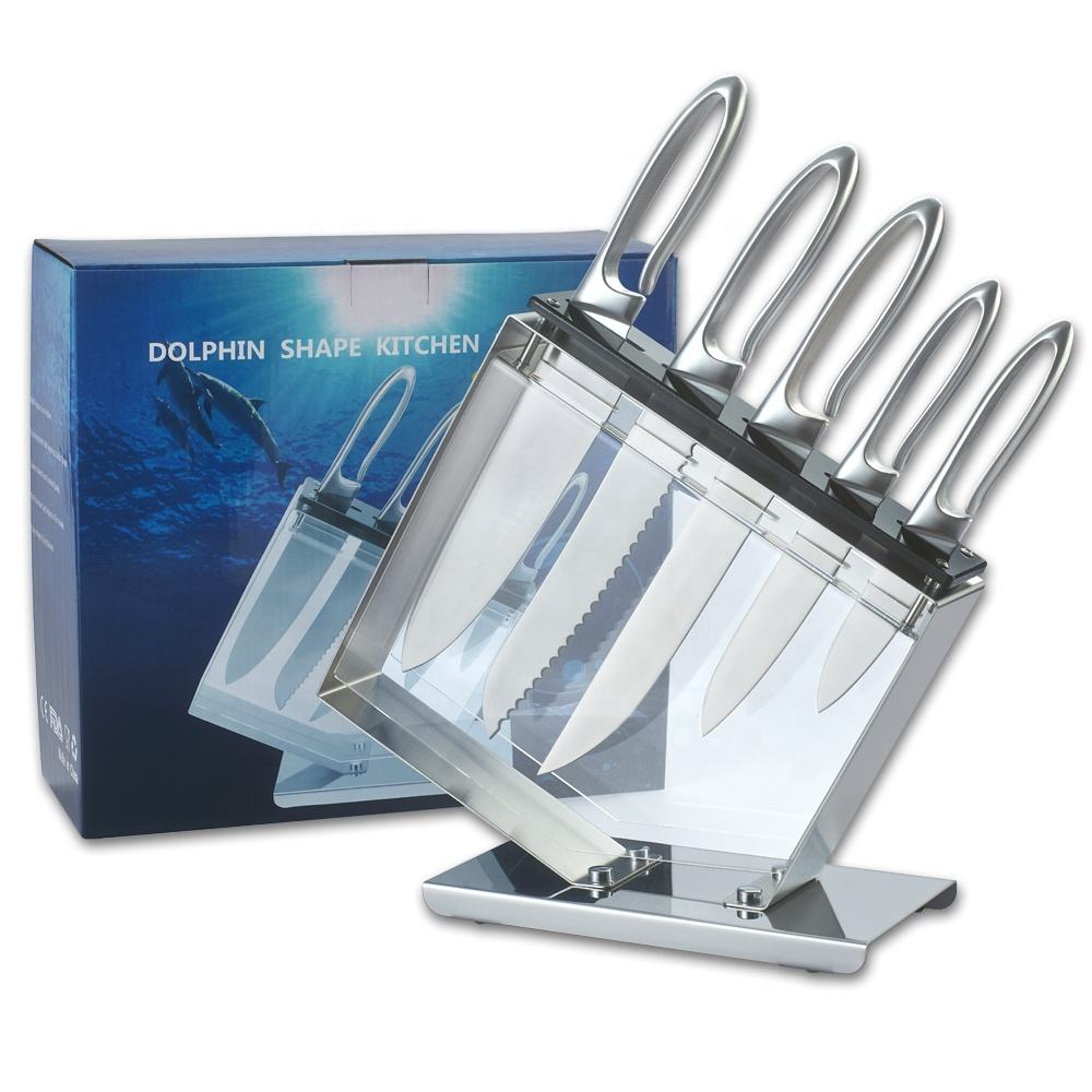 Six-piece Set [ Knife Set ] Kitchen Knife Set Deluxe Jumping Dolphin Stainless Steel Knife Kitchen Set