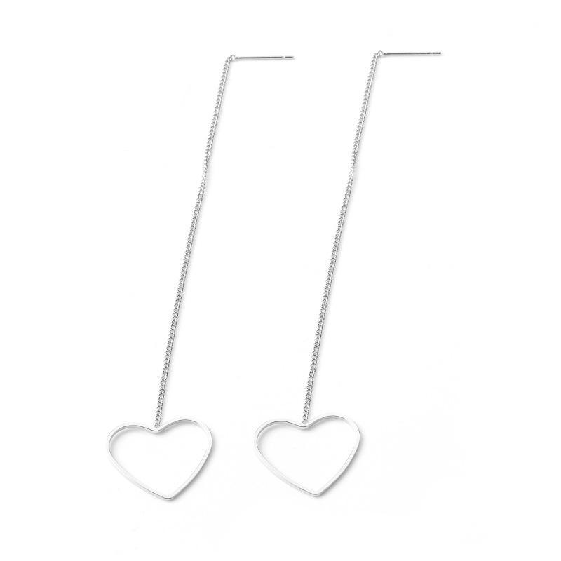 Fabricante Novo Brincos Moda Simples Geometria Longo Earline Polígono Triângulo Amor Brincos Para As Mulheres