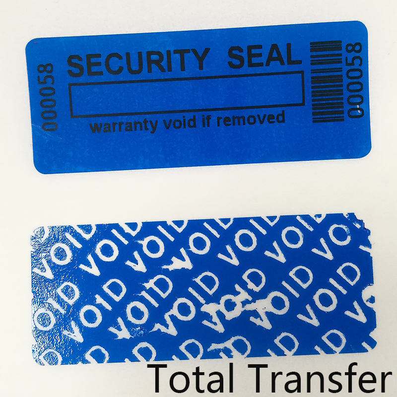 PET Waterproof Custom Barcode Security Labels Roll