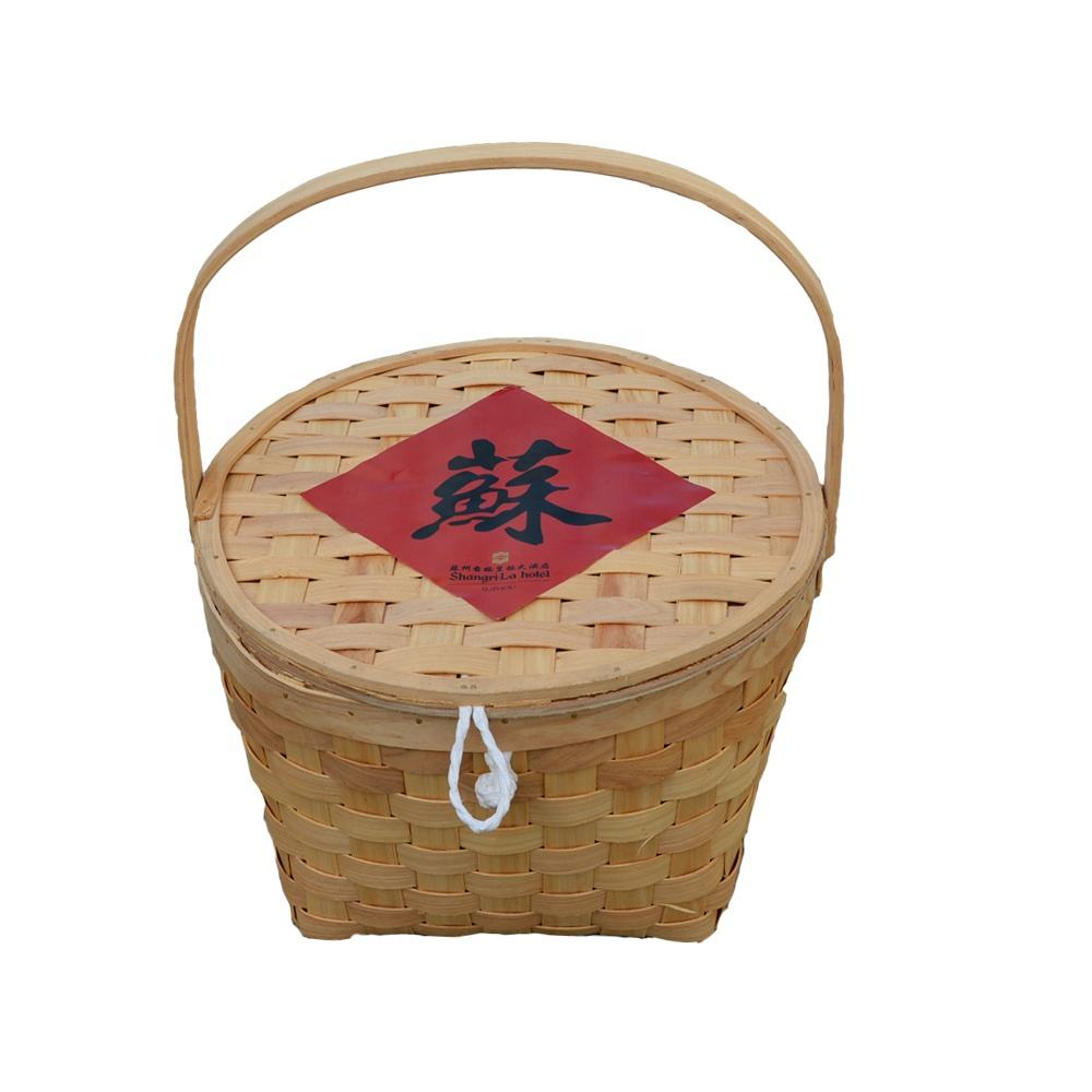 Natural household portable baskets bamboo basket
