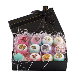 Private Label Colorful Natural Rich Foam Organic Bath Bombs Fizzy Soap Gift Set