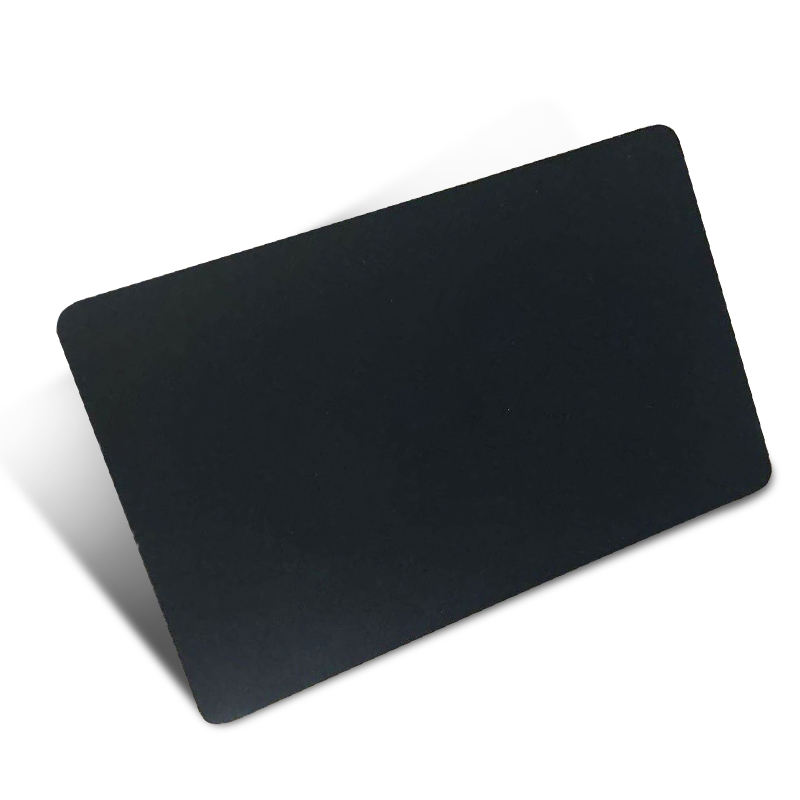 Hot Sales Laser Engraving Printable Blank Metal Loyalty Credit Card Matt Black Stainless Steel Smart Metal Nfc Rfid Chip Card