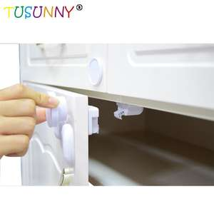 8 Locks + 2 Keys Magnetic Baby Child Cupboard Safety Locks Childproof Magnetic Cabinet Drawer Locks