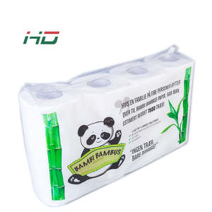 Biodegradable Recycled Bathroom Bamboo Core Toilet Paper Tissue Rolls