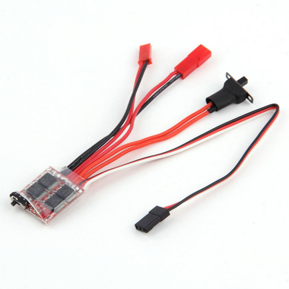 RC ESC 20A Brush Motor Speed Controller w/ Brake for RC Car Boat Tank New Sale rc brushless motor speed controller esc