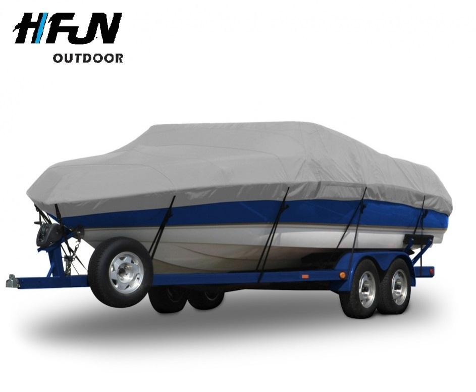 Custom Heavy Duty Waterproof 19' New Polyester Elastic Boat Cover for Sale