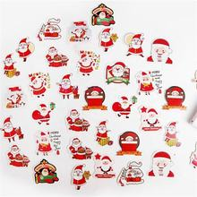 Custom Printing Amazon Waterproof Adhesive Vinyl Kiss Cut Colored Christmas Decorative Kids Sticker for Kids
