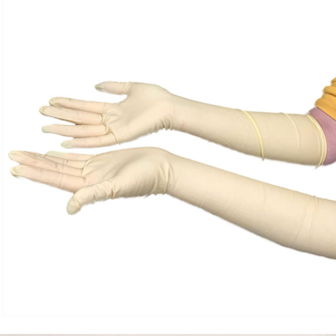latex gloves long powder free safety gloves hand work gloves