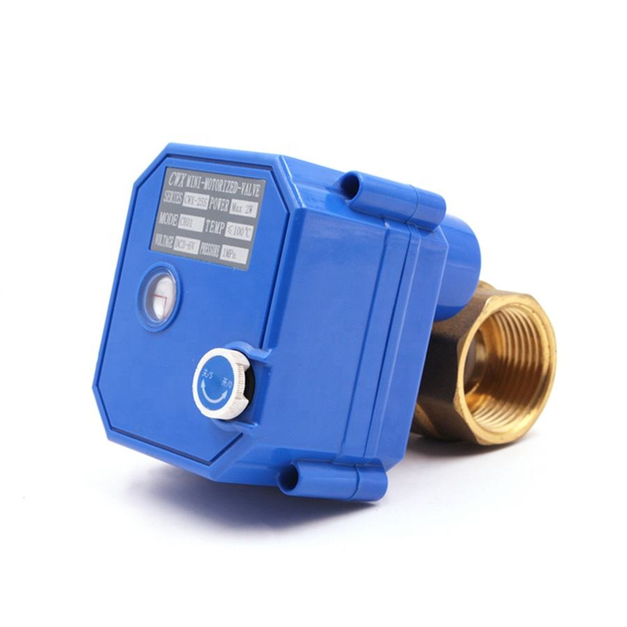 electric water ball valve with manual function electric water valve flow control 5V 12V 24V 110V 220V