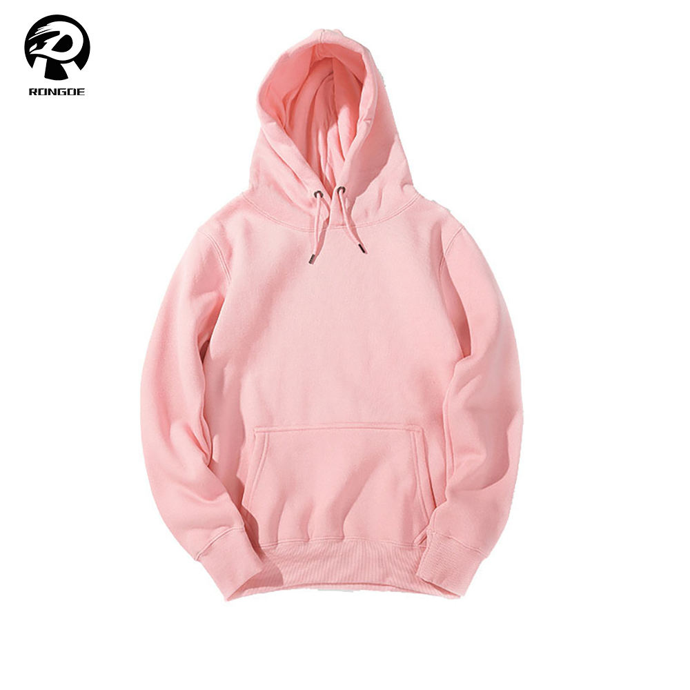 Wholesale hip hop 100 cotton pink workout hoodies for men