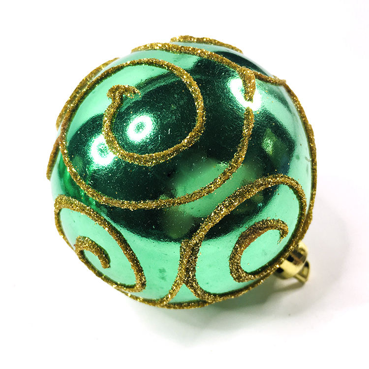 Christmas Tree Decoration Ornaments 6CM Ball Decorated With Green Pattern