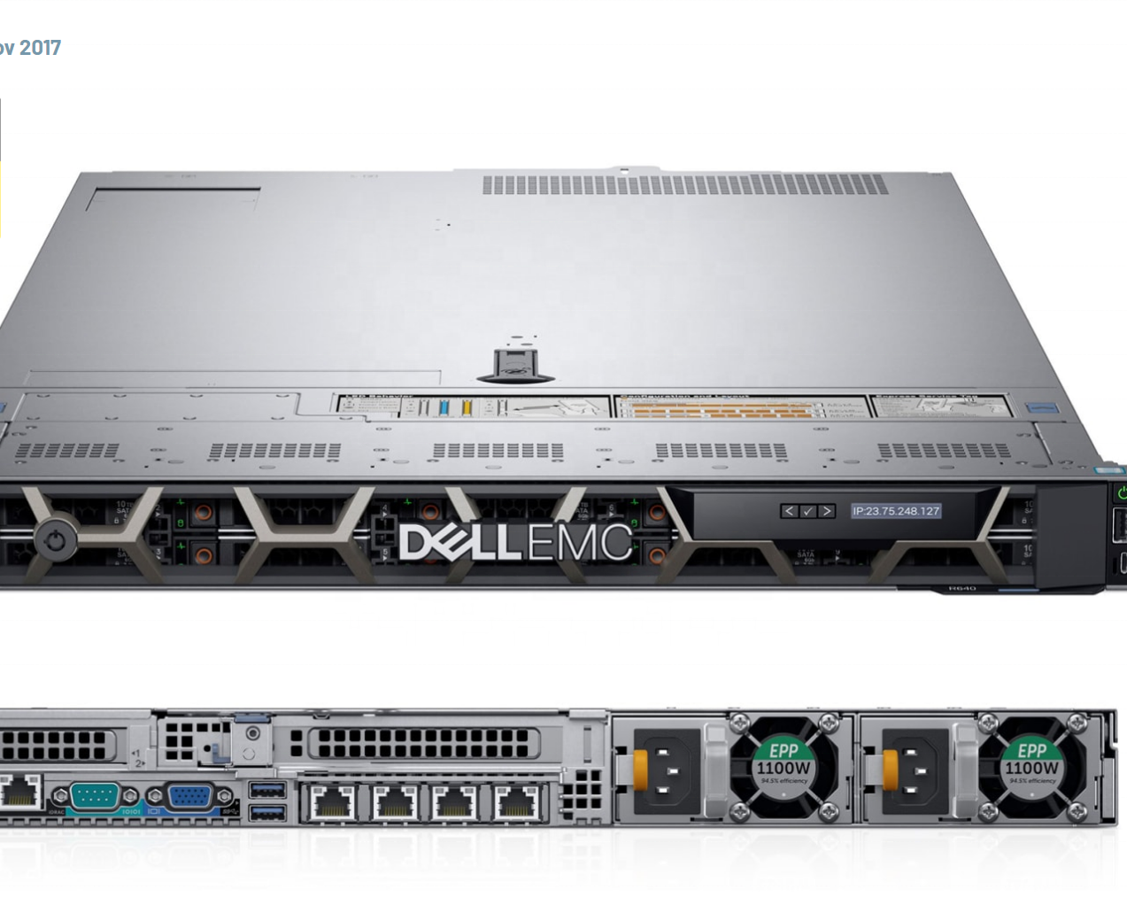 China lieferanten Poweredge Xeon Gold 6140 server Dell R640