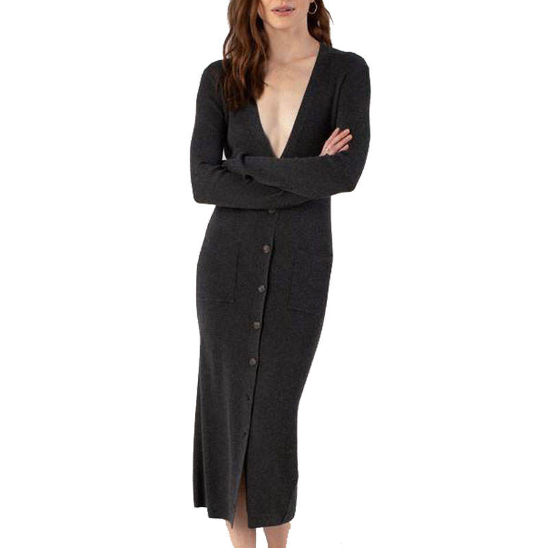 Femmes Pull Sexy Jeunes Dames Hiver Profond V Cou À Manches Longues Tricots Cachemire Cardigan Pull Femmes Casual Robes de Club