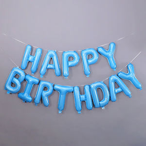 16 Inch Decoration For Happy birthday Party Foil Letters Globos Birthday Balloons