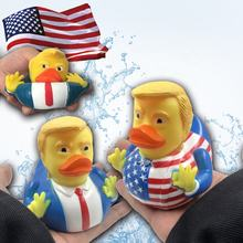 2019 Trump toy of Duck Bath Toy Shower Water Floating Squeeze Sound Rubber Duck Baby Water Tos