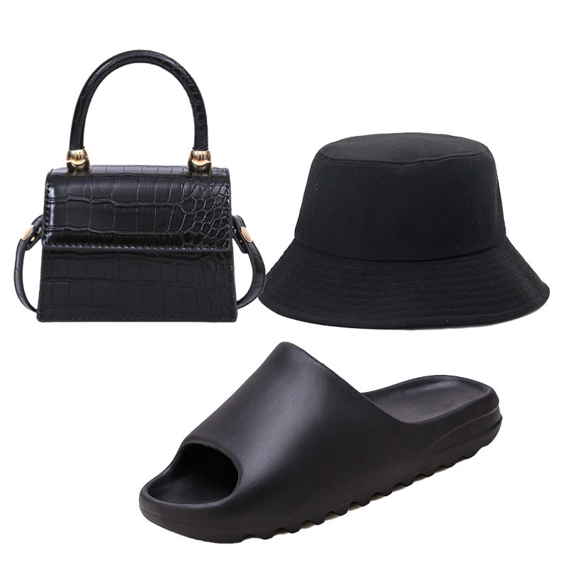 Wholesale 2021 Crossbody Mini Purse and Bucket Hat Fashion Small Girls Bag Set Famous Brand Designer Sandals and Purse Sets
