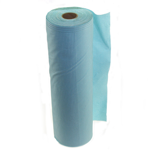 Printed Hospital Plastic Paper Material 3 Ply Waterproof Non Woven Blue Black Pink Disposable Dental Bibs Roll