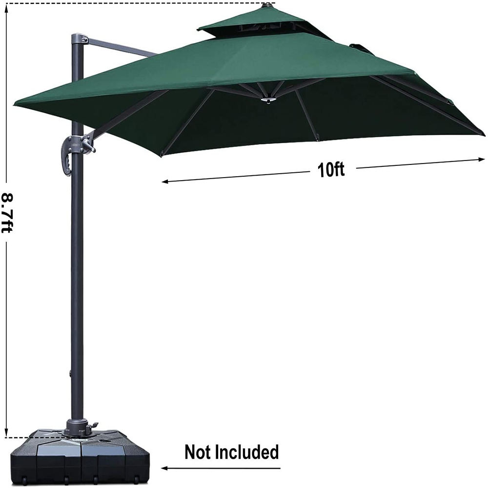 2020 Best Sale Waterproof High Quality Outdoor Garden Parasols Umbrella, China Furniture Square Aluminum Roma Patio Umbrellas