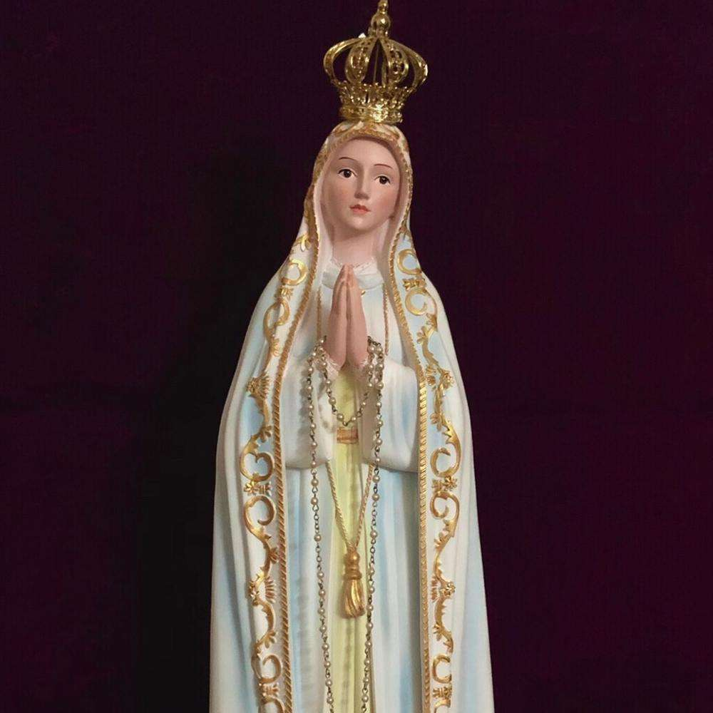 "Our Lady of Fatima 12"" Catholic Statue portraying Virgin Mary Blessed Mother"