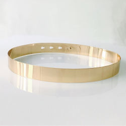 Gold Metal Belt for Evening Dresses Fashion Wide Waist Belts