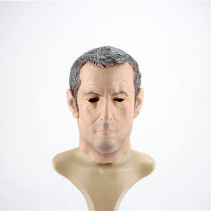 Wholesale Factory Supply Costume Party French President macron Full Head Latex Halloween Mask