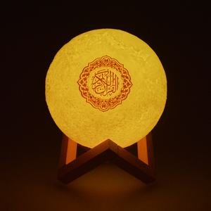 Cheap price holy muslim gift APP control 8g player al blue tooth USB cable touch moon lamp quran speaker