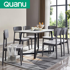 QUAN series marble top restaurant living room dinning table set