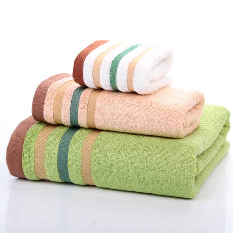 OEM service organic bamboo fiber ultra soft luxury bath towel hand towel face towel