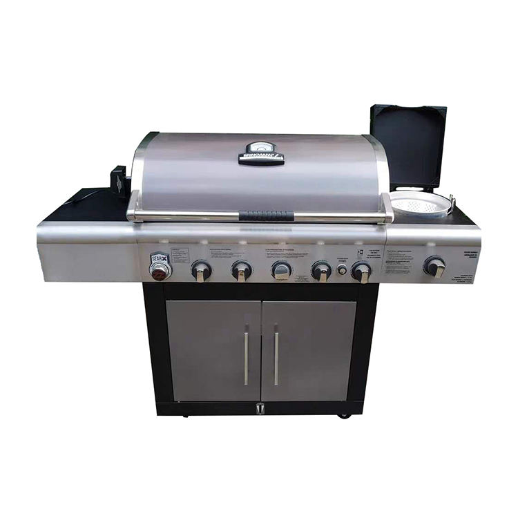 Destock 120v 5 Burners Outdoor BBQ Gas Grill For Home Party(only for people who has freight forwarder)