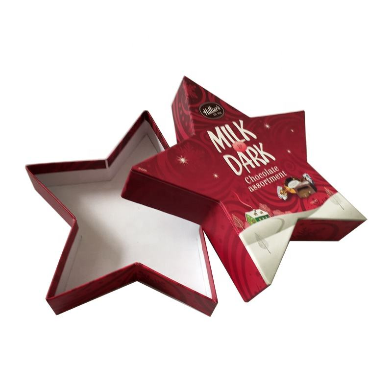 Eco-friendly Custom Star Shape Wedding Candy Gift Packaging Paper Box