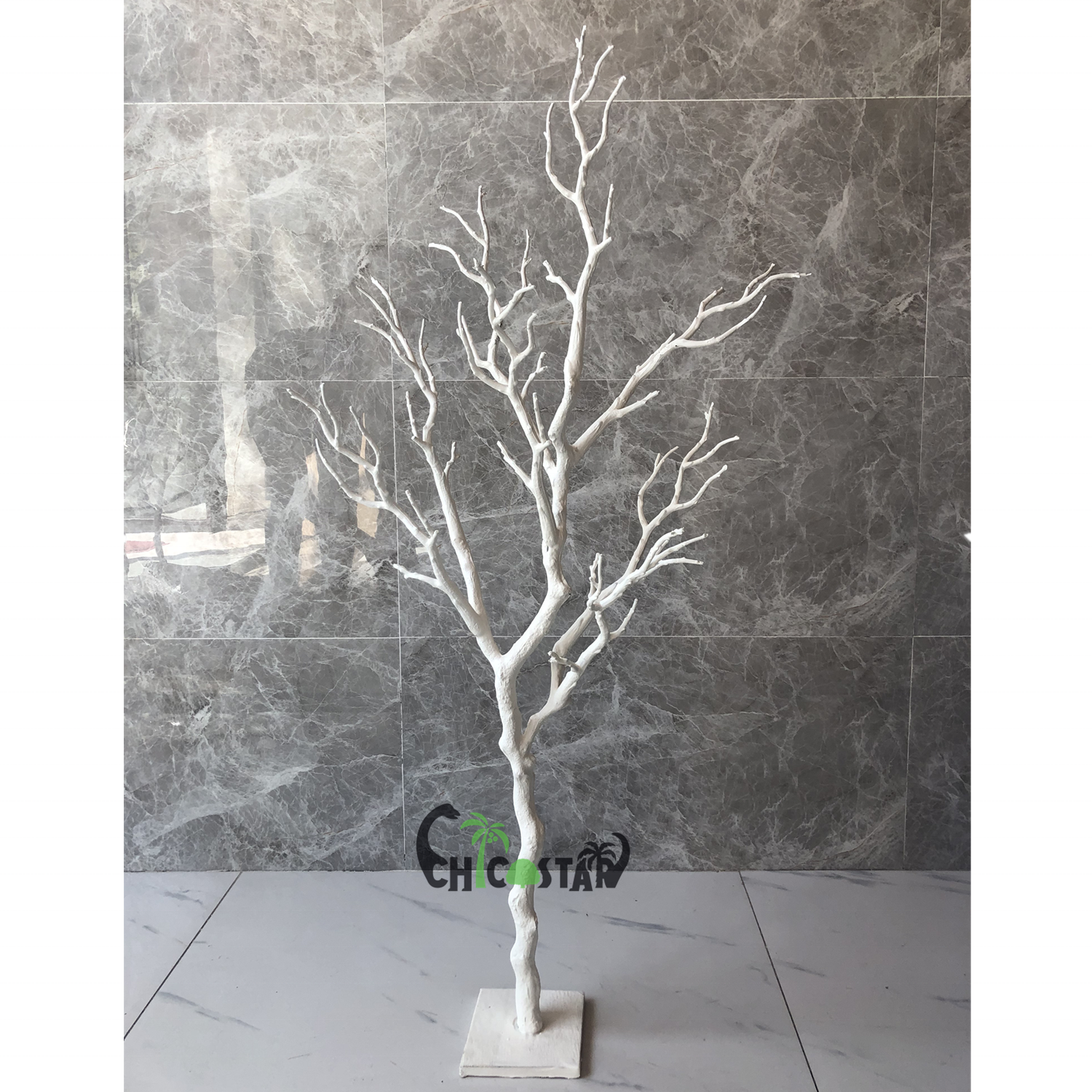 High quality white artificial tree trunk without leaves dry tree for wedding decoration