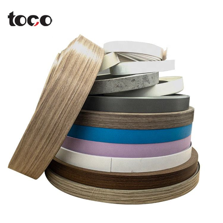 Toco Factory Trade Assurance Natural Wood Veneer Mdf Board Paper Preglued Melamine Pvc Edge Banding Tape For Furniture