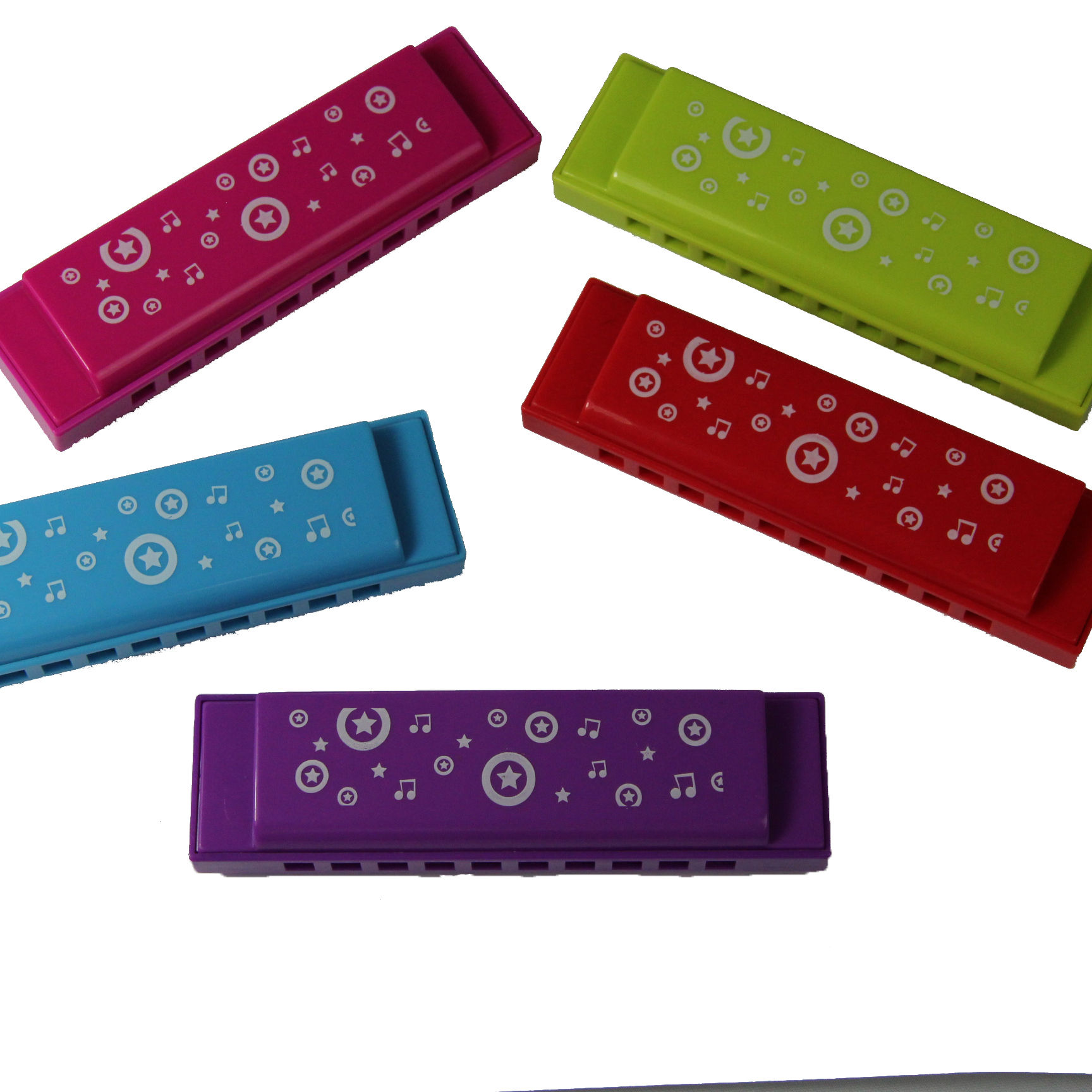 BEE brand 10 hole oem small gift toy plastic cover harmonica