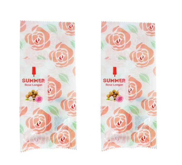 Disposable frozen plastic popsicle ice lolly packaging pouch