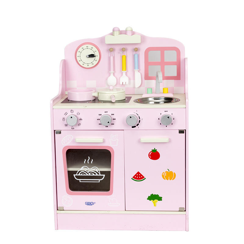 Simulation Kitchenware Pretend Play Set Girl Kitchen Wooden Children Interactive Educational Toys for Kids Birthday Gifts