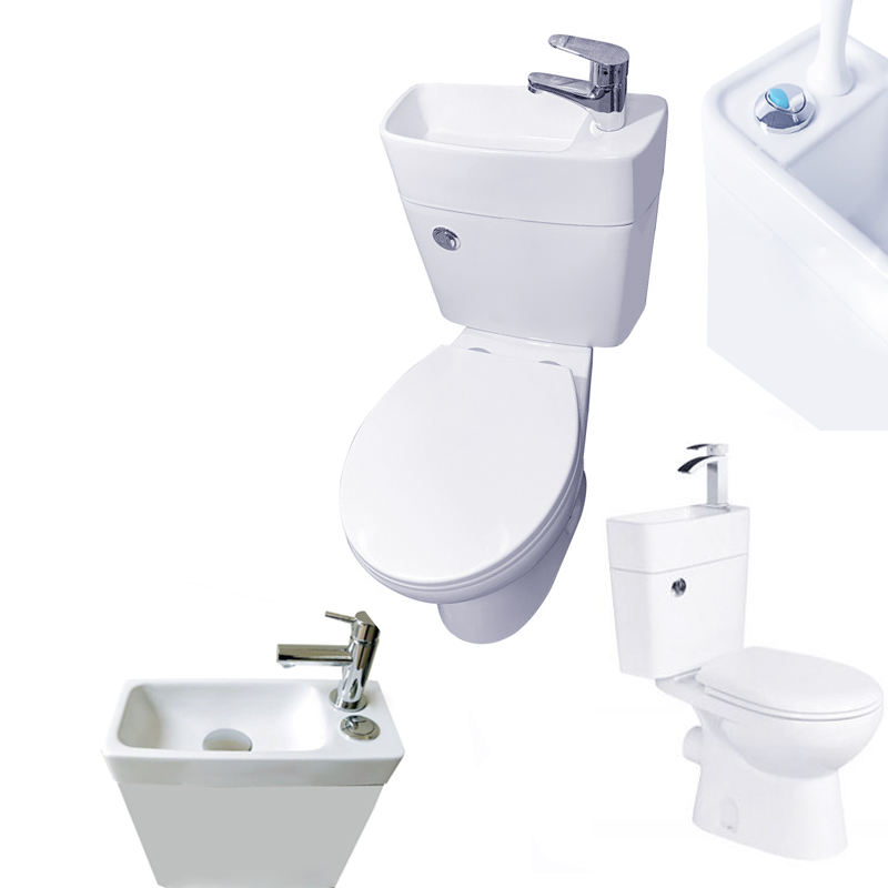 vitreous china smart toilet washing face wc tank commode washroom furniture commercial cold water tap shower in one toilet