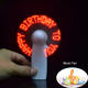 Music Led Message Hand Portable Fan